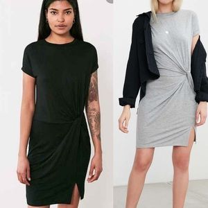 Urban outfitters knotted ruched side tshirt dress